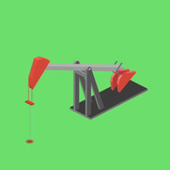 Oil rig isometric vector illustration