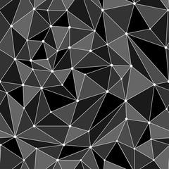 Polygonal abstract geometric seamless pattern.