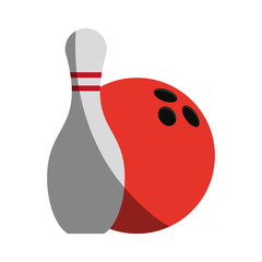 bowling pin icon image vector illustration design