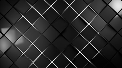 Wall Mural - grey and white squares modern background illustration