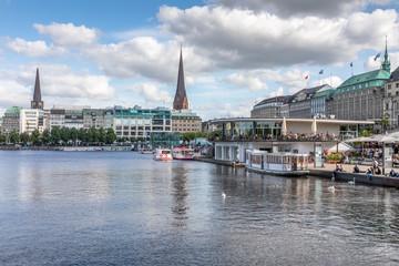 Foto op Plexiglas Panoramafoto s Binnealster, Hambourg