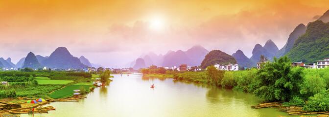 Foto auf Acrylglas Guilin Guilin Lijiang beautiful natural scenery