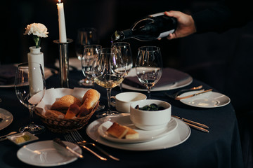 table setting for a lovey dinner/ table setting/ table setting