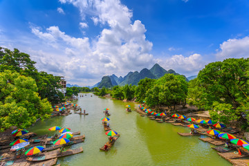 Tuinposter Guilin Guilin Lijiang beautiful natural scenery