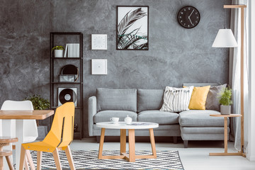 Multifunctional living room with plant