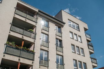 white apartment block at east berlin