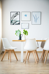Simple bright dining room