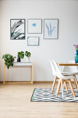 Apartment designed in scandi style