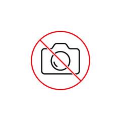 no photo prohibition sign on white background