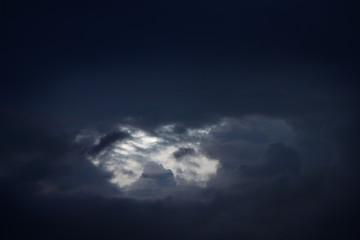 Dark cloud on the sky.