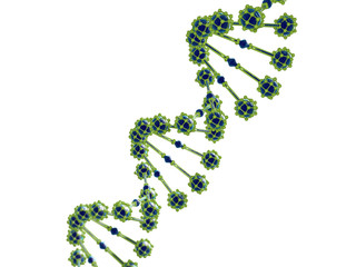 3d illustration of abstract DNA helix isolated.