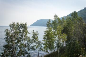 Idyllic landscape of Lake Baikal, Siberia, Russia - on a day in summer 2017