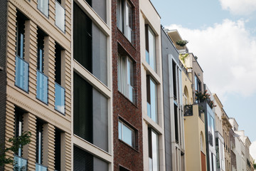 futuristic architecture of townhouses in the heart of berlin