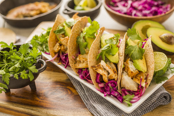 Fresh tortillas on plate