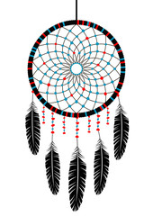 Vector drawing of the contour, Dreamcatcher