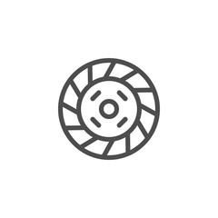 Car clutch line icon