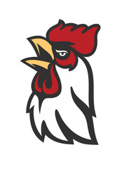 vector Rooster Head