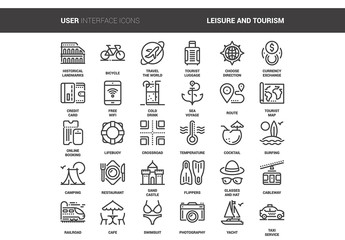 30 Line Art Travel Icons 2