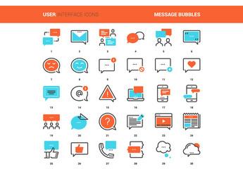 30 Orange and Cyan Communication Icons 1