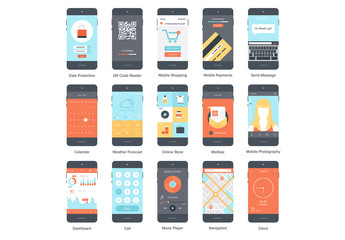 15 Mobile Device Screen Illustrations 2
