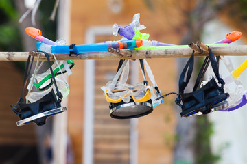 snorkels hanging