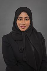Beautiful arab saudi woman face posing