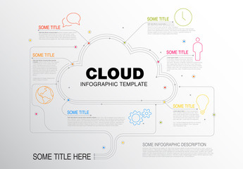 Cloud Element Inforgraphic Layout