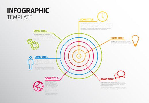Bull's Eye Infographic Layout