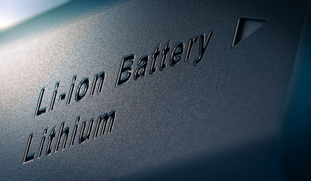 Li-ion Lithium Battery Pack Close Up