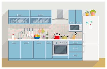 Kitchen modern interior and furniture