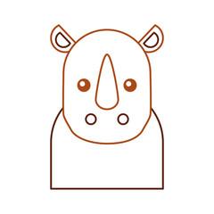Wild rhinoceros isolated icon vector illustration design