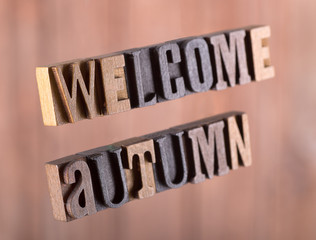 Welcome Autumn Banner on an Abstract Background