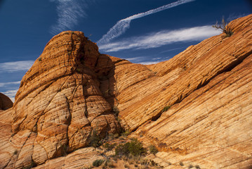 Red Sandstone in Duck Creek Canyon
