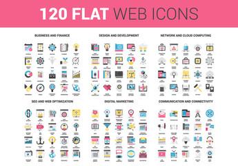 120 Flat Web Color Icons 1