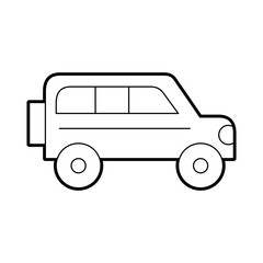 safari van isolated icon vector illustration design
