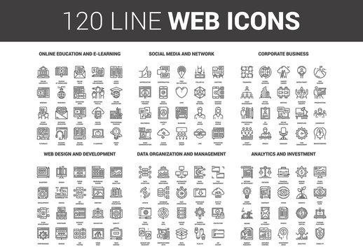 120 Line Art Icons 2