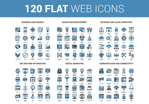 120 Blue Icons 1