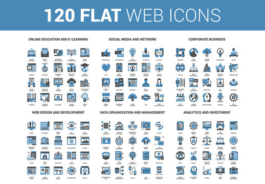 120 Blue Icons 2