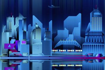 Blue city wallpaper