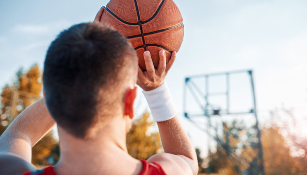 Basketball player in action. Sport, recreation concept