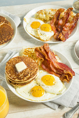 Healthy Full American Breakfast