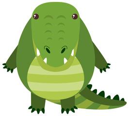 Cute crocodile with happy face