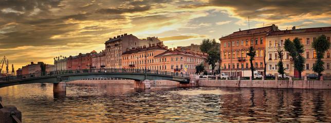 Fontanka River Embankment in St. Petersburg