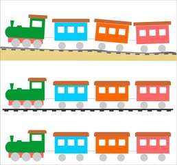 Colored train for children