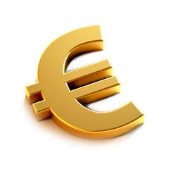Euro Golden  Symbol. 3D Render Illustration
