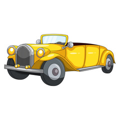 Cute Yellow Car cartoon