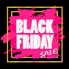 Black friday sale banner, design for business advertising,vector