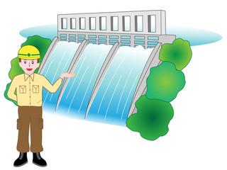 ダムの作業員の説明