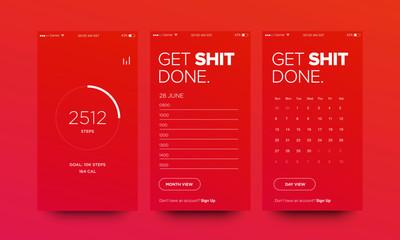 UI Elements Set Design for Smart Phones