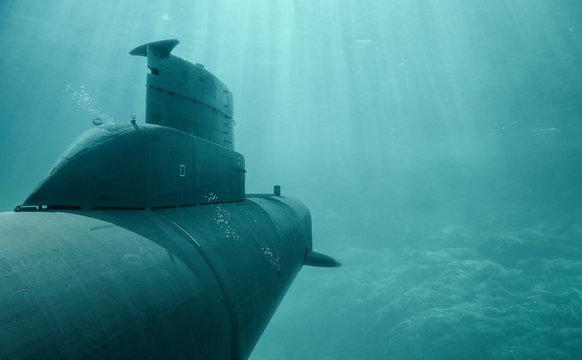 U-Boot auf Tauchfahrt